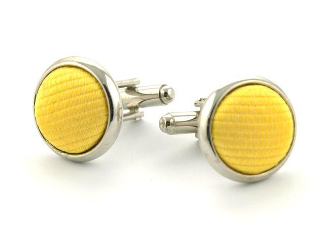 manchetknopen zijde nos 70 geel