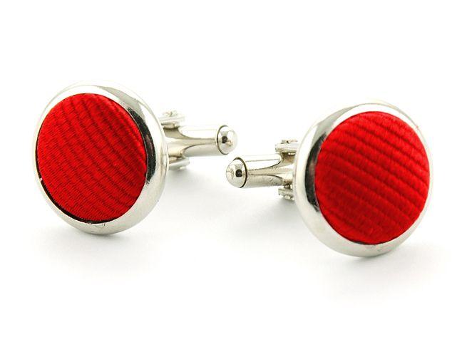 manchetknopen zijde 71 rood
