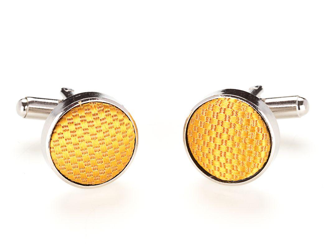 manchetknopen zijde nos 8 goudgeel