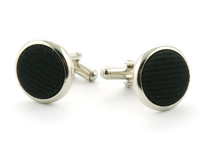 manchetknopen zijde nos 8 zwart