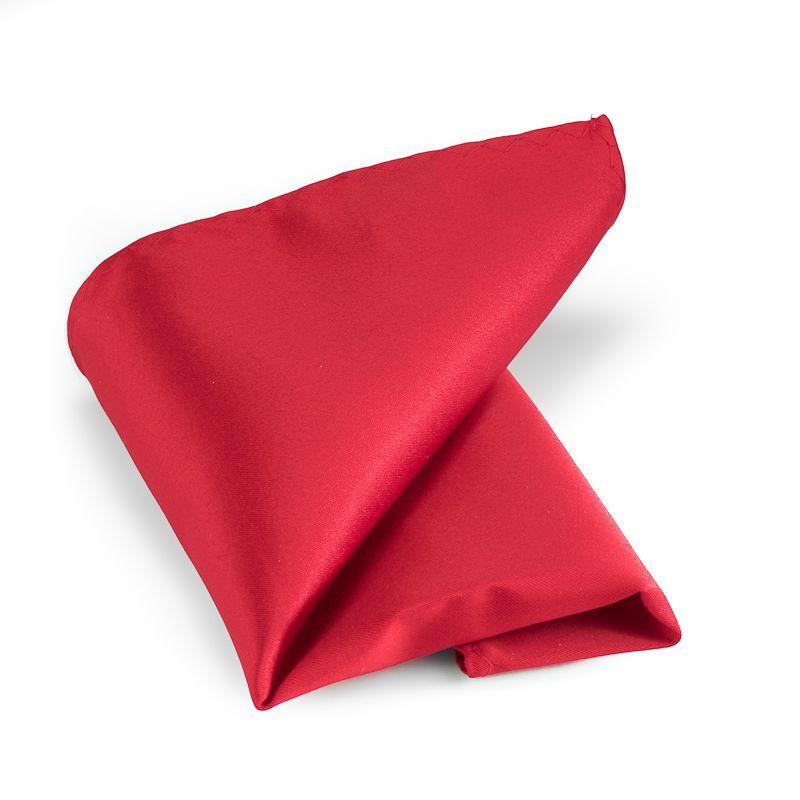 pochet polyestersatijn 913 midden rood