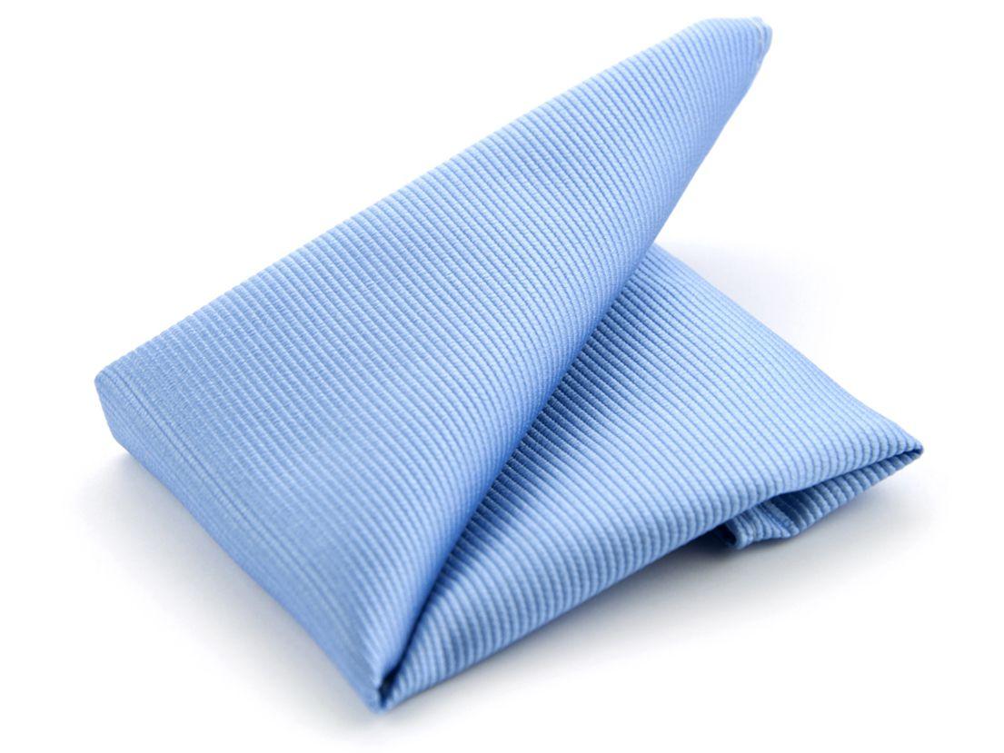 pochet zijde nos 2 lichtblauw