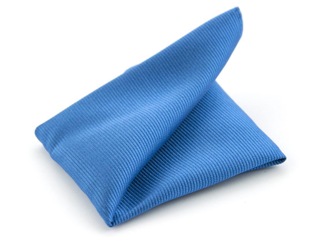 pochet zijde nos 32 blauw