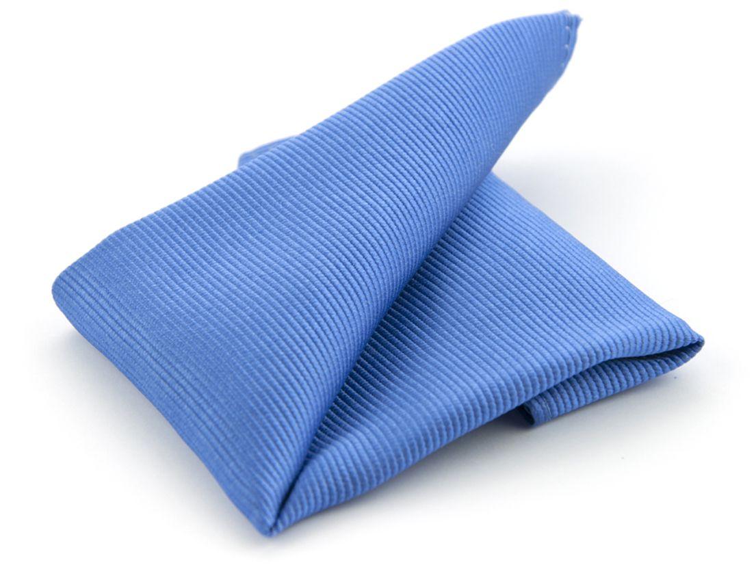 pochet zijde nos 5 middenblauw