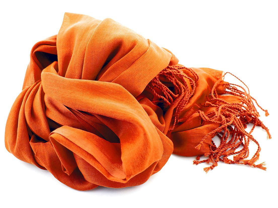 shawl katoenzijde nos 01 oranje 50x180cm