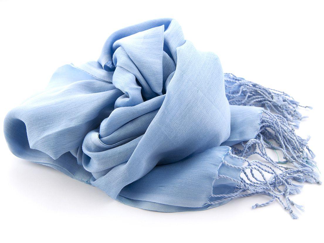 shawl katoenzijde nos 02 licht blauw 50x180cm