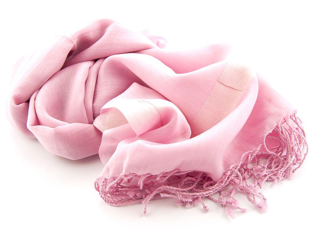 shawl katoenzijde nos 03 roze 50x180cm
