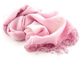 Shawl Katoen/Zijde NOS 03 - Roze 50x180cm
