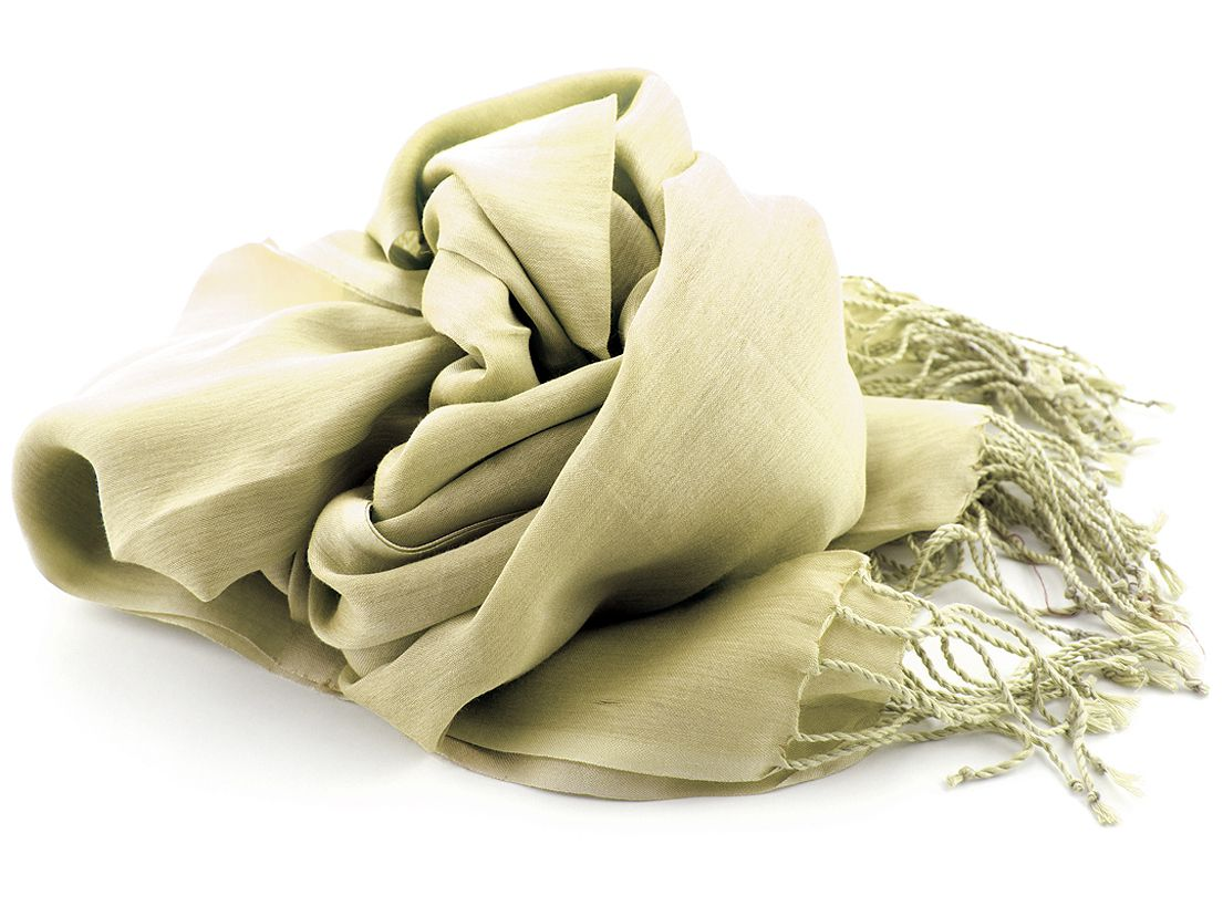 shawl katoenzijde nos 09 ecru 50x180cm
