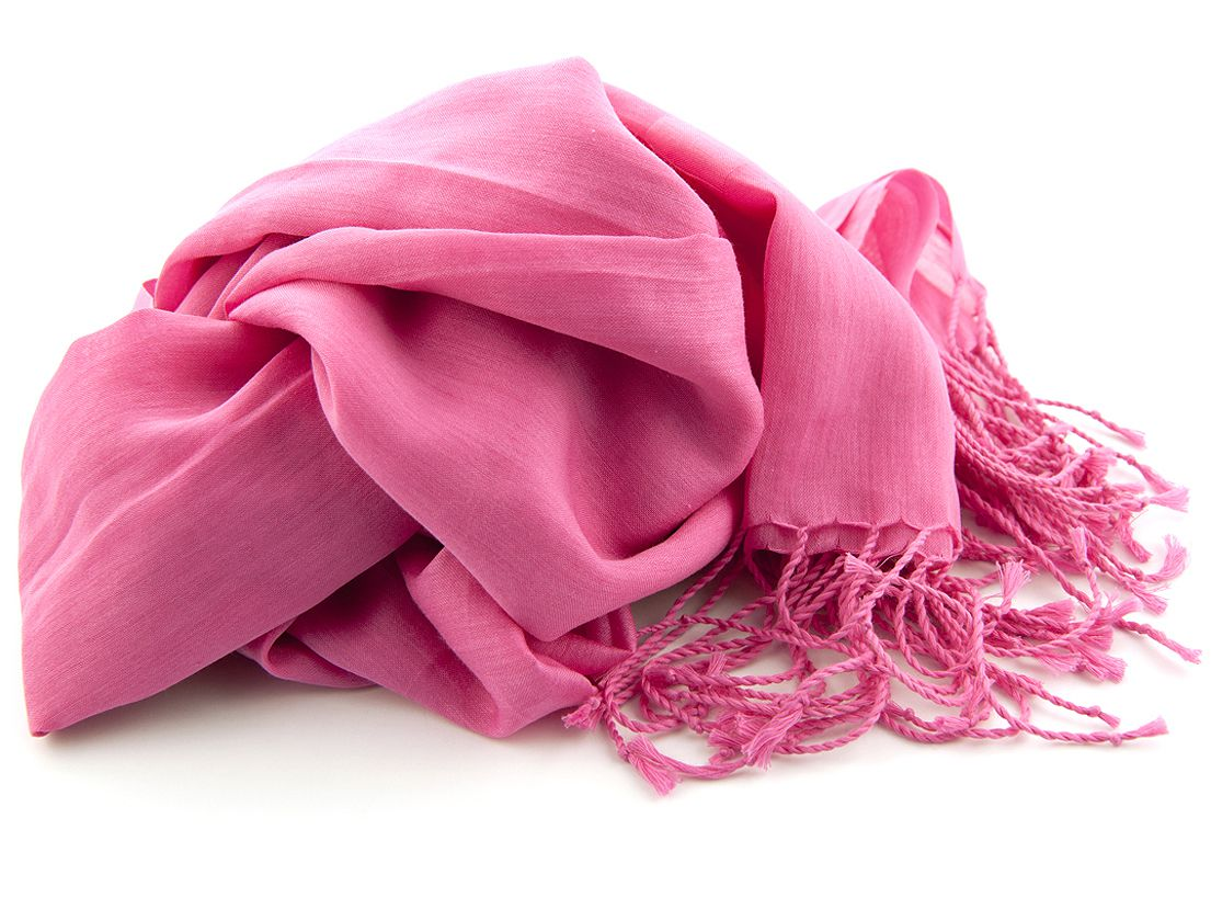 shawl katoenzijde nos 21 fuchsia 50x180cm