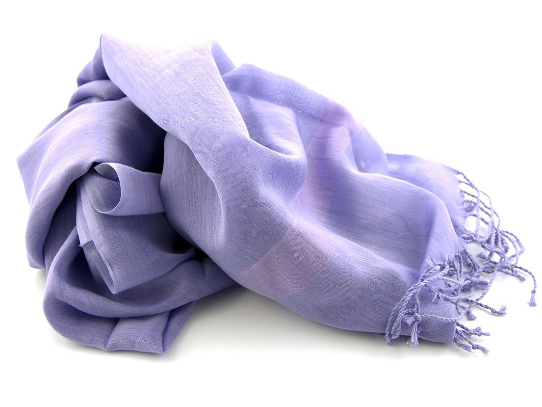 shawl katoenzijde nos 26 lila 50x180cm