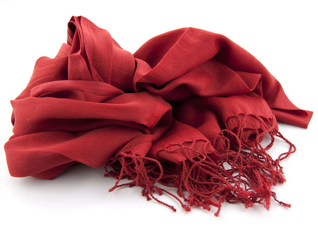shawl katoenzijde nos 34 rood 50x180cm