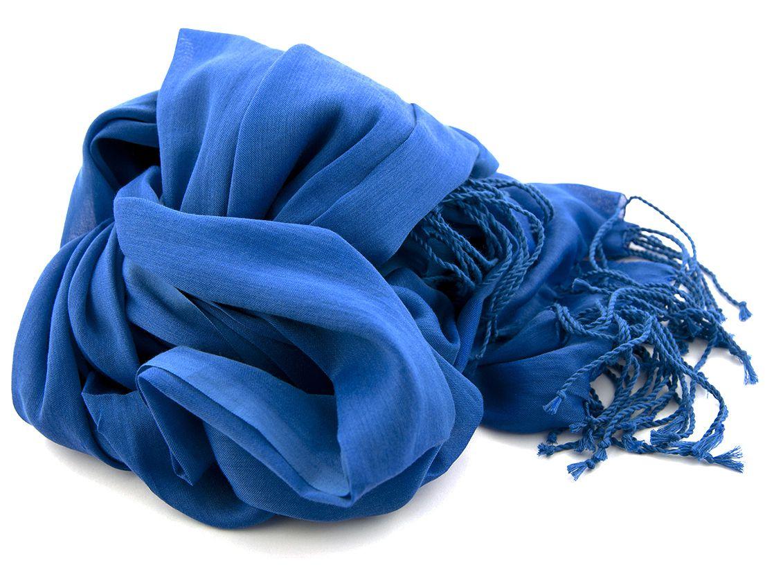 shawl katoenzijde nos 65 kobalt 50x180cm