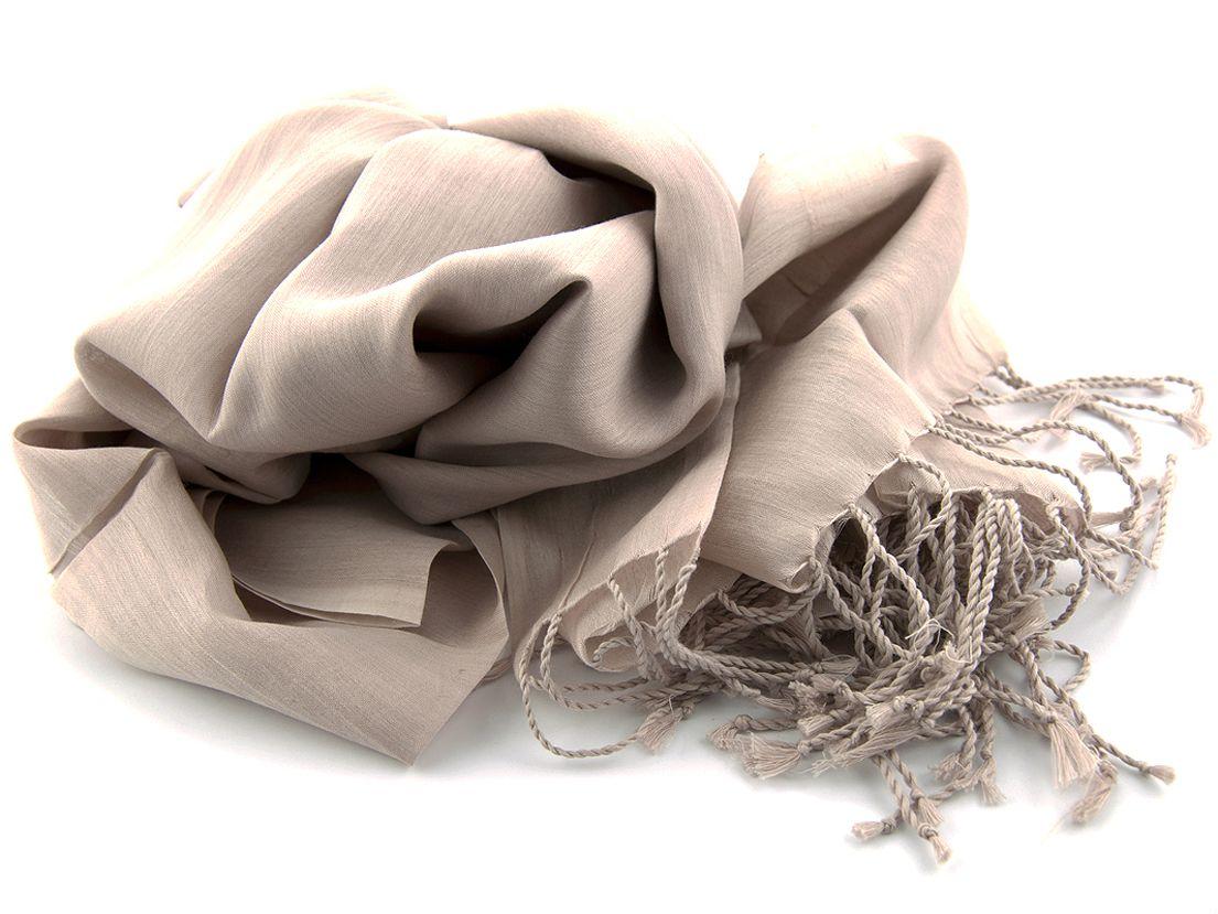 shawl katoenzijde nos 69 beige 50x180cm
