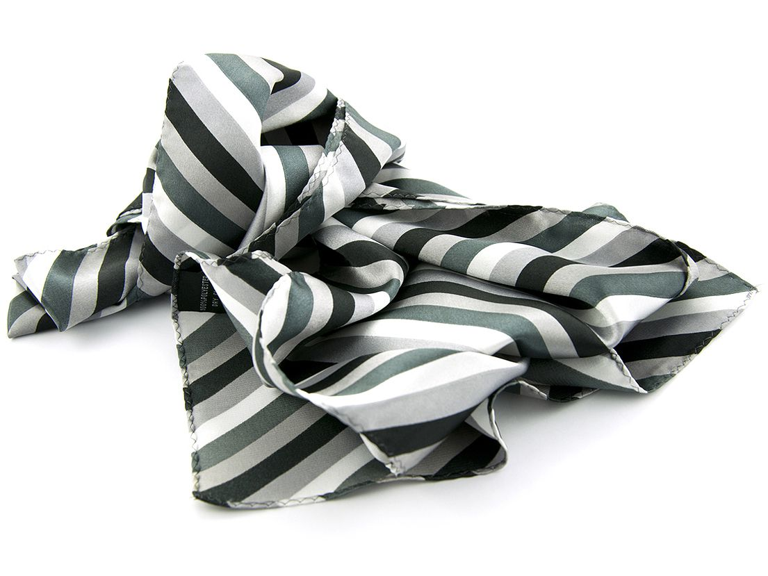 shawl multicolour polyestersatijn