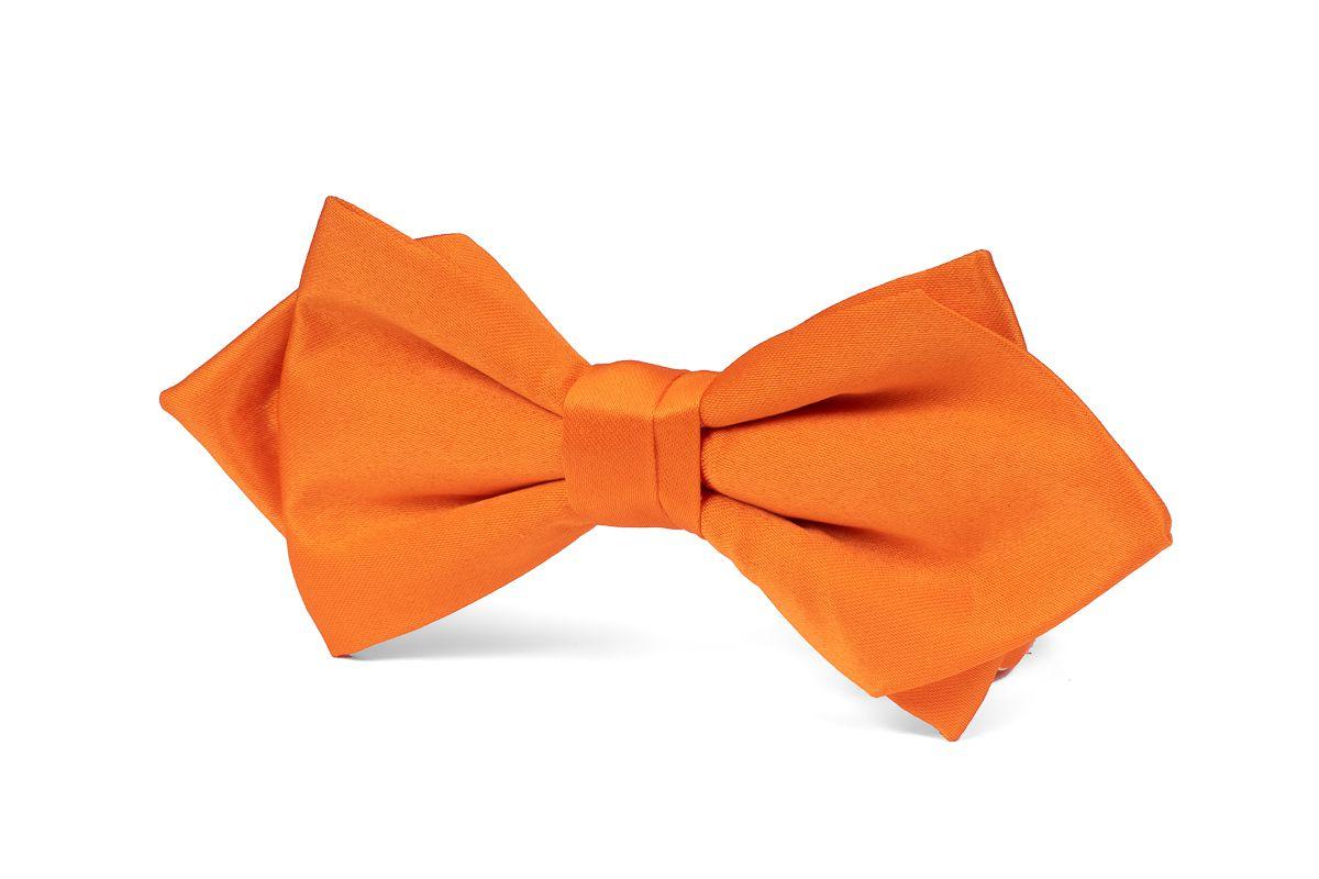 strik polyestersatijn punt uitlopend 999 oranje