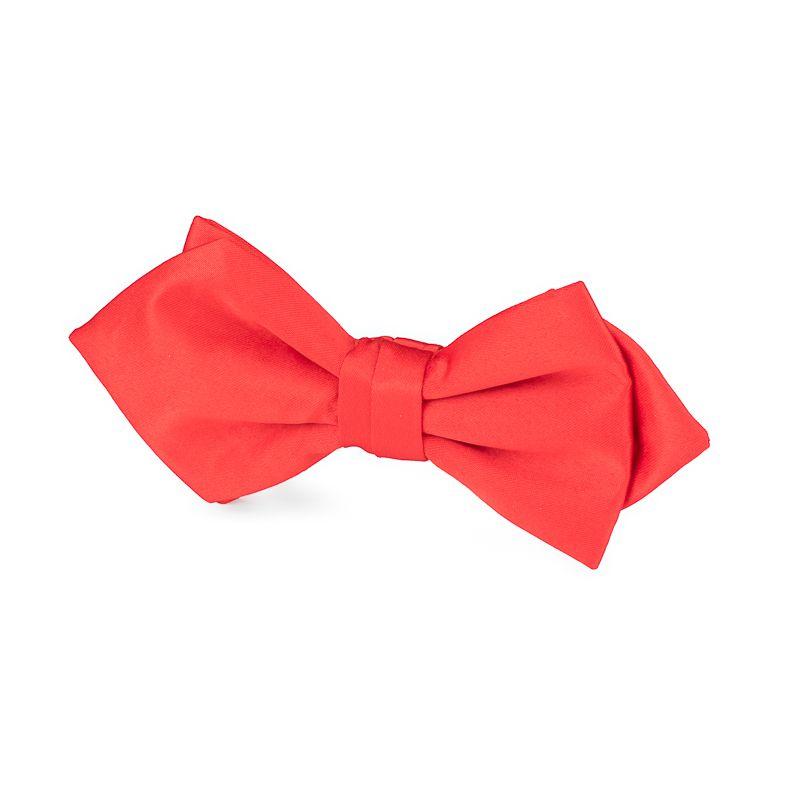 strik polyestersatijn punt uitlopend 2012 rood
