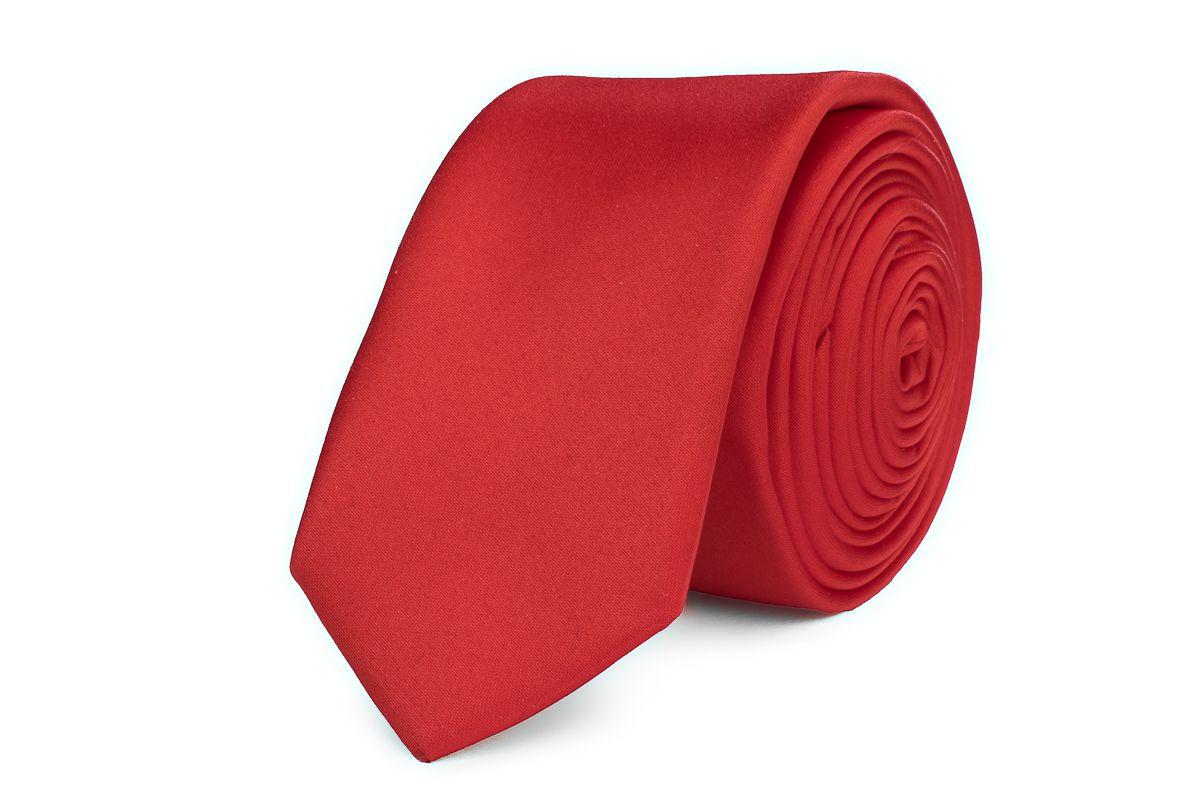 stropdas polyestersatijn 2012 rood