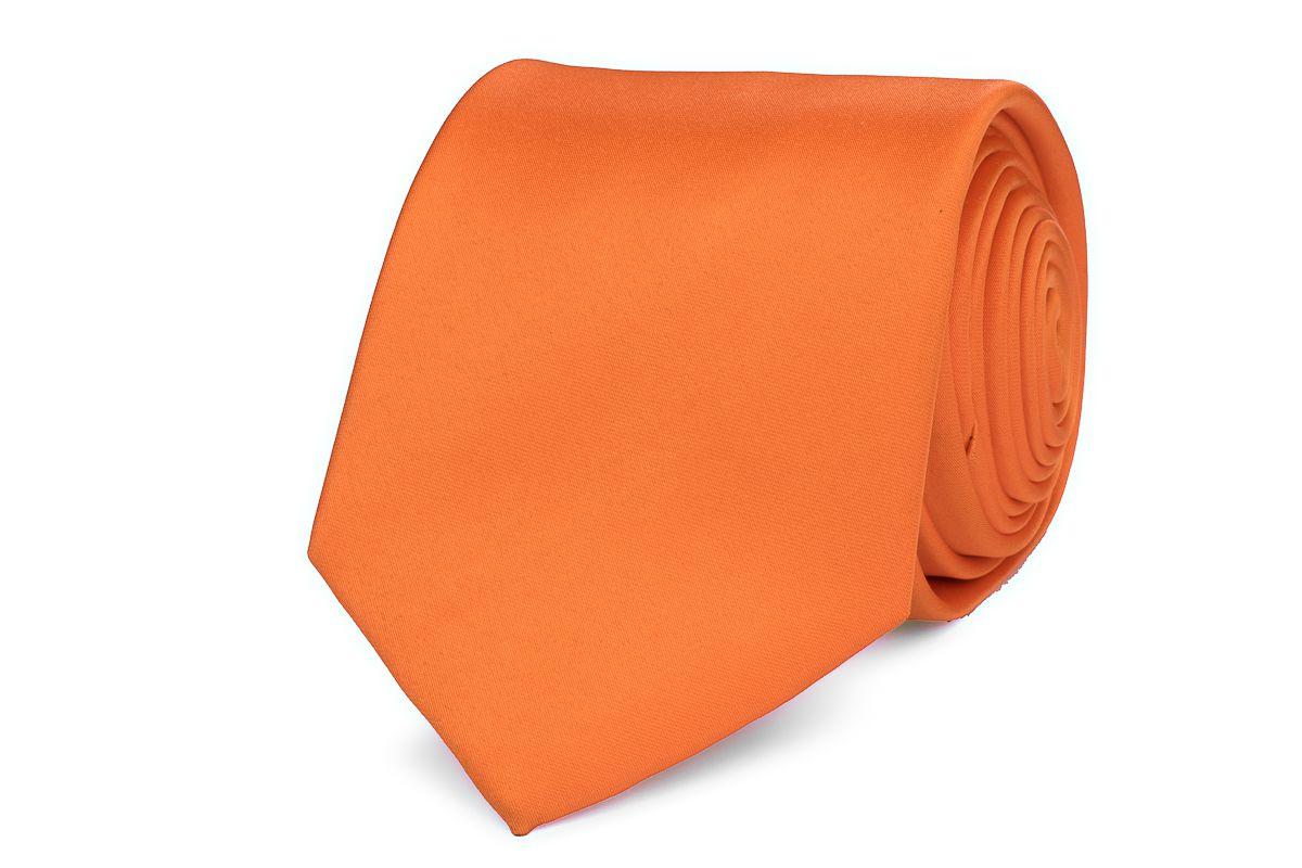 stropdas polyestersatijn 999 oranje