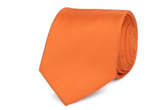 Stropdas polyester-satijn 999 Oranje