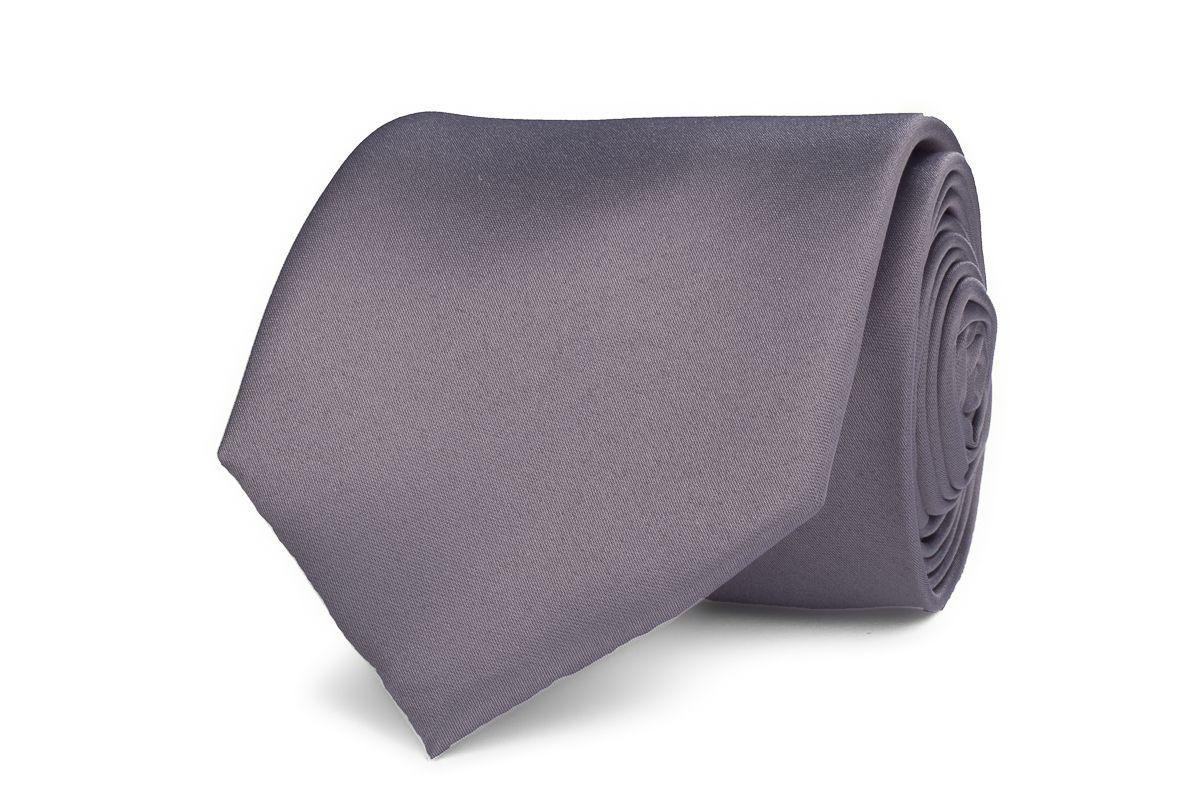 stropdas polyestersatijn 1004 licht grijs