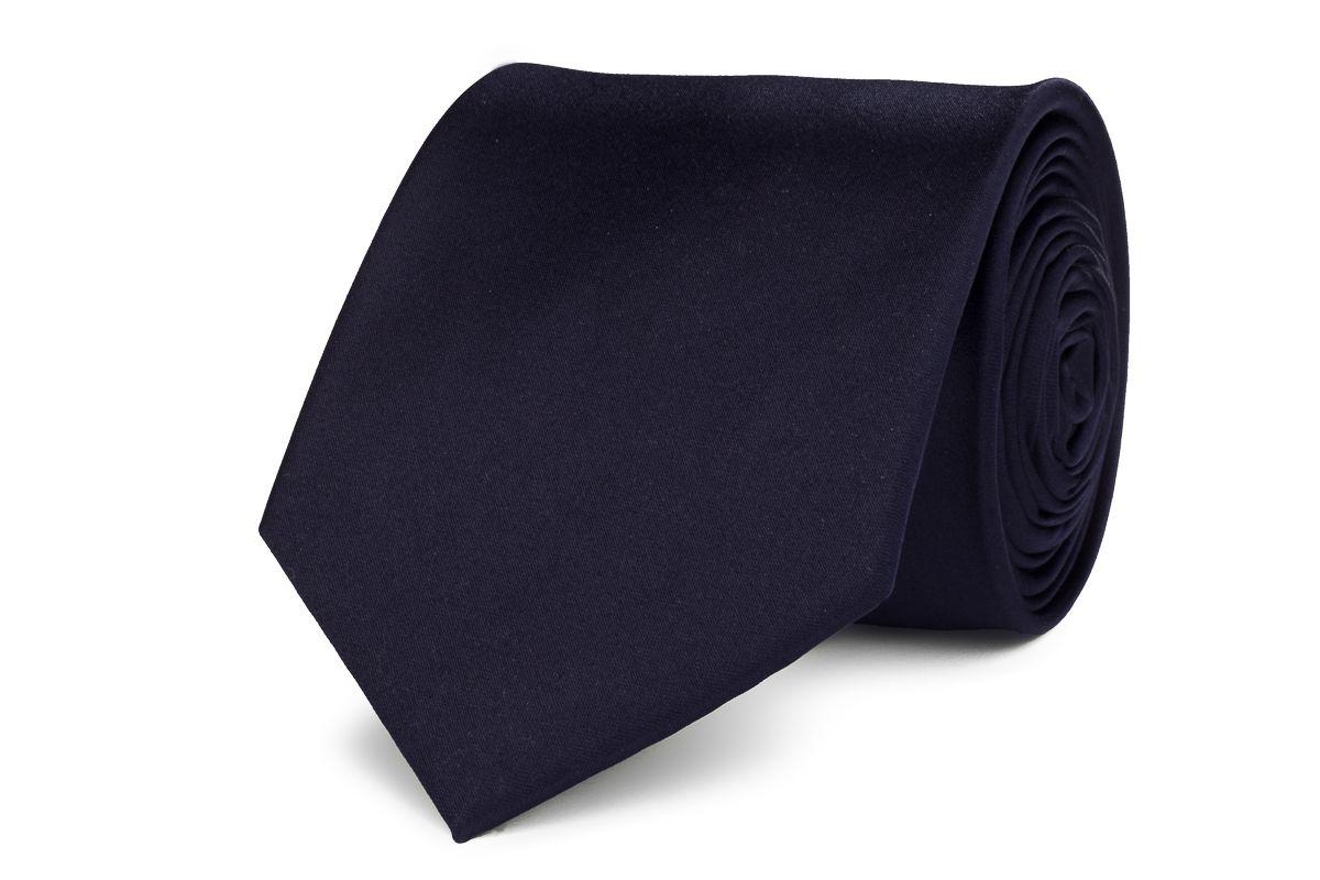 stropdas polyestersatijn 260 donker marine