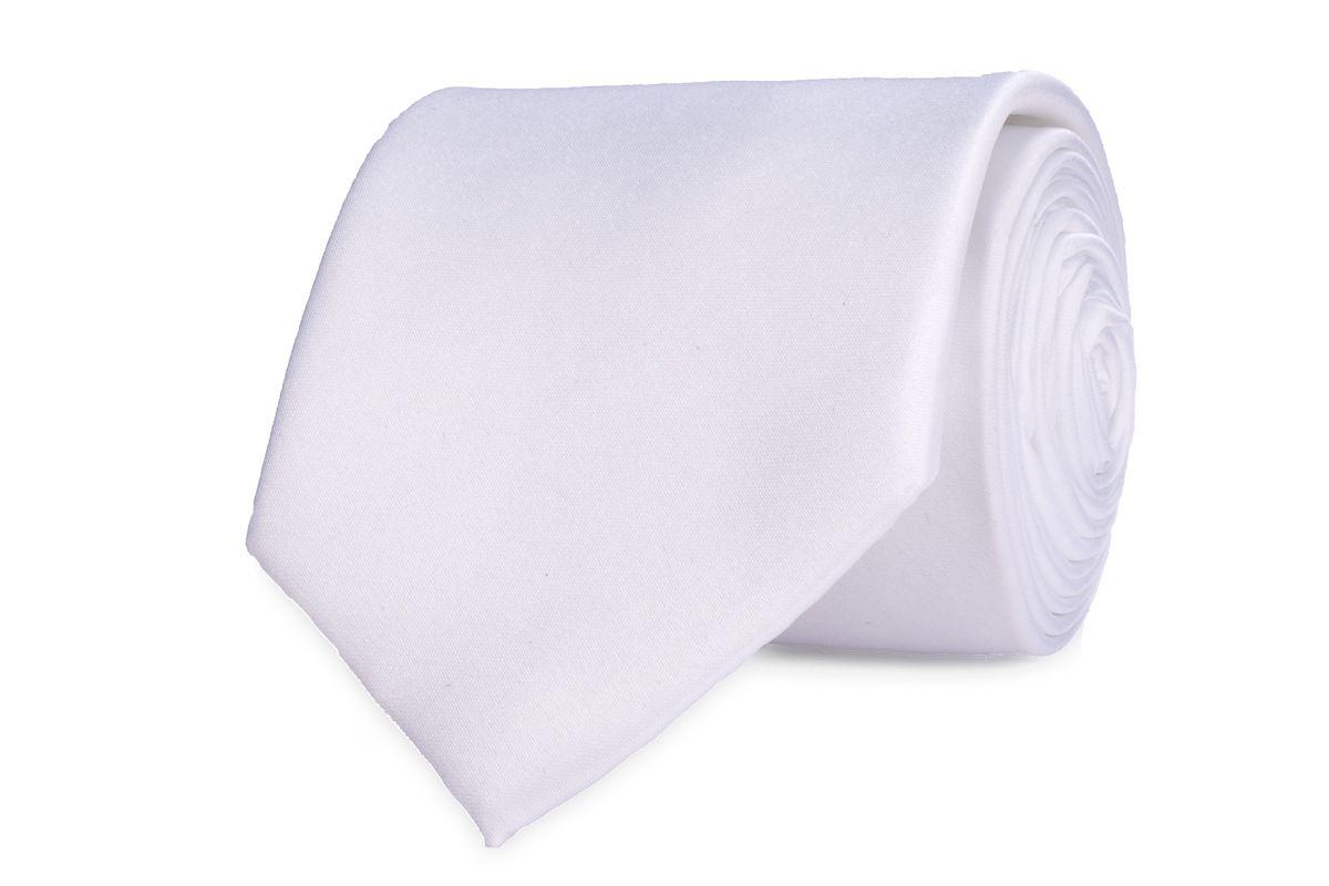 stropdas polyestersatijn 900 wit