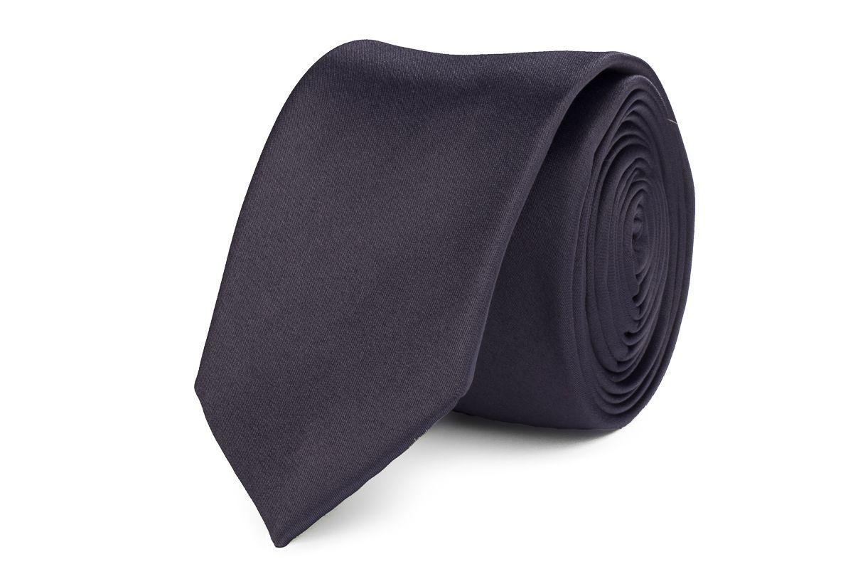 stropdas polyestersatijn 906 antraciet