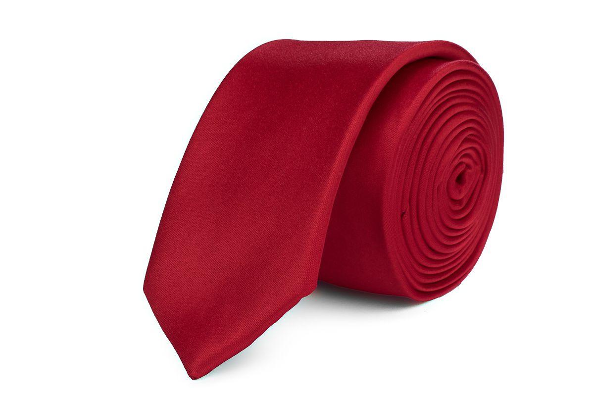 stropdas polyestersatijn 913 midden rood