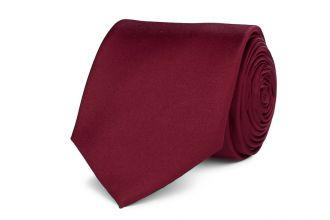 Stropdas polyester-satijn 914 Bordeaux