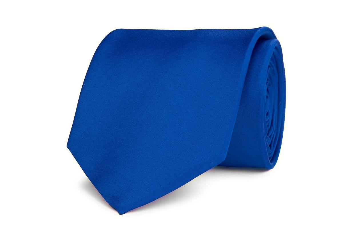 stropdas polyestersatijn 929 kobalt