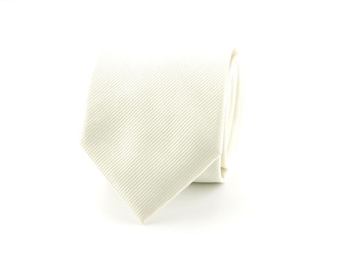 stropdas polyester uni ecru
