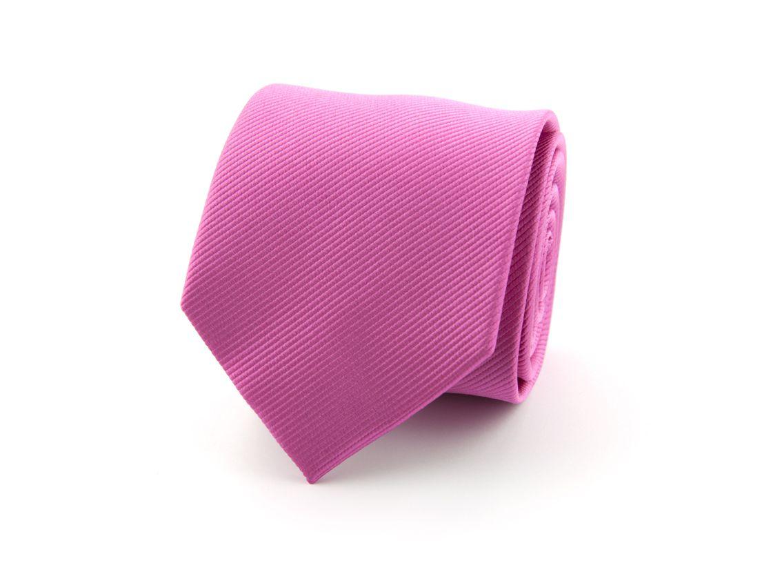 stropdas polyester uni fuchsia
