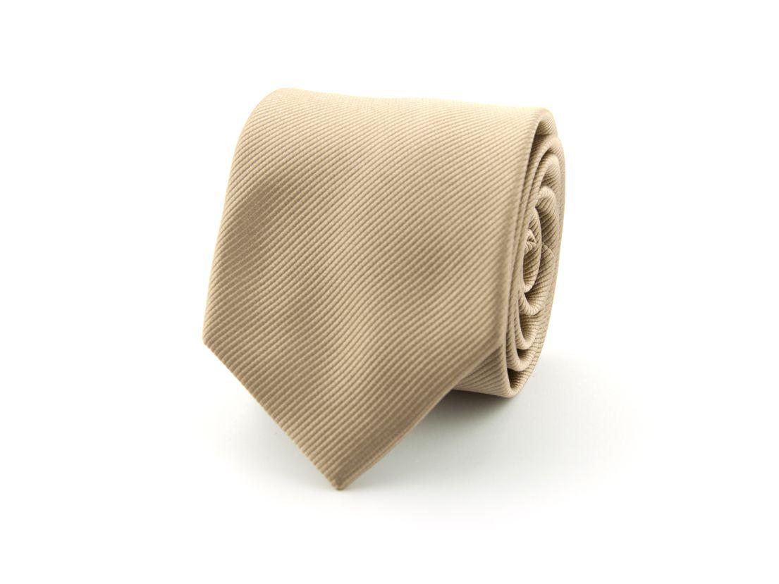 stropdas polyester uni khaki