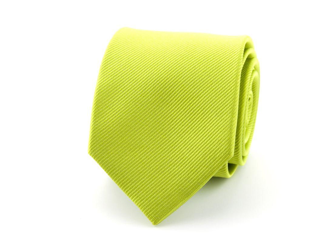 stropdas polyester uni lime