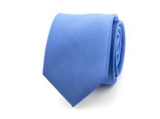 Stropdas polyester uni NOS Middenblauw