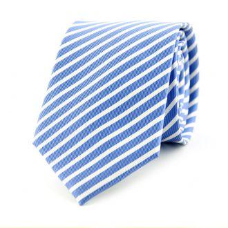 Stropdas streep NOS (UITLOPEND) col. 2 - blauw