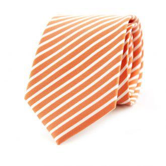 Stropdas streep NOS (UITLOPEND) col. 6 - oranje