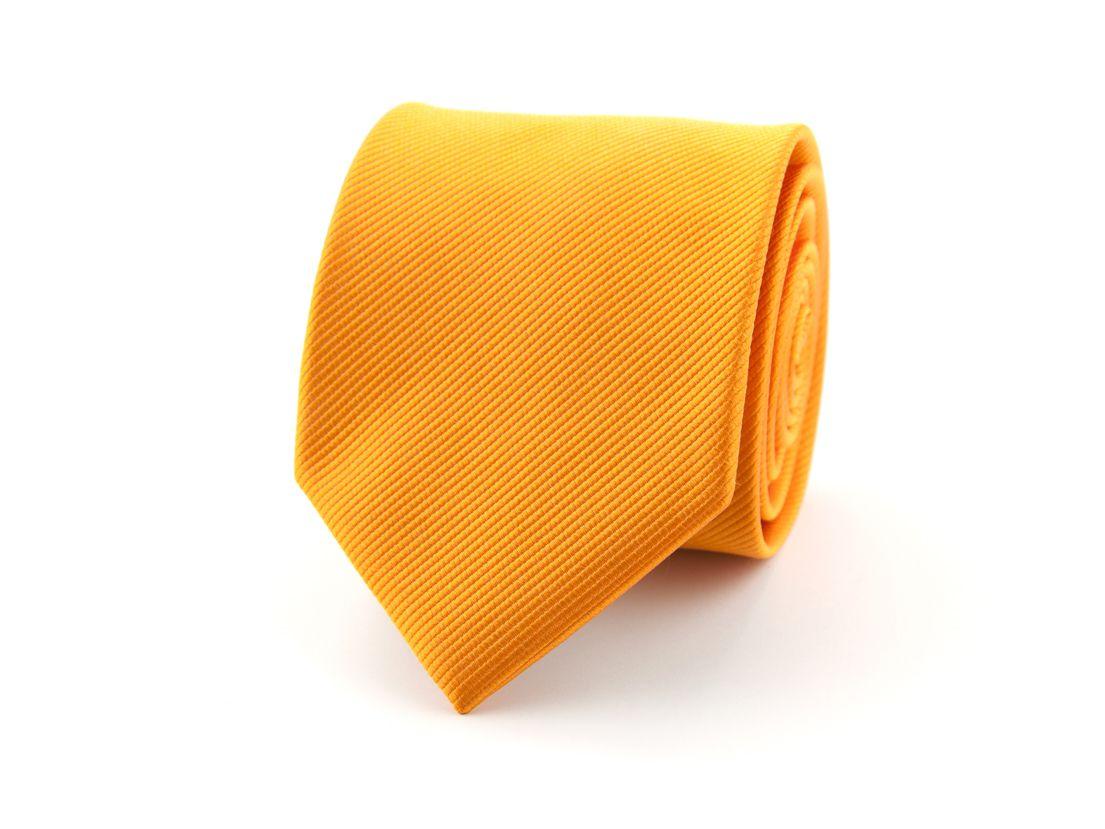 stropdas zijde nos 1 oranje