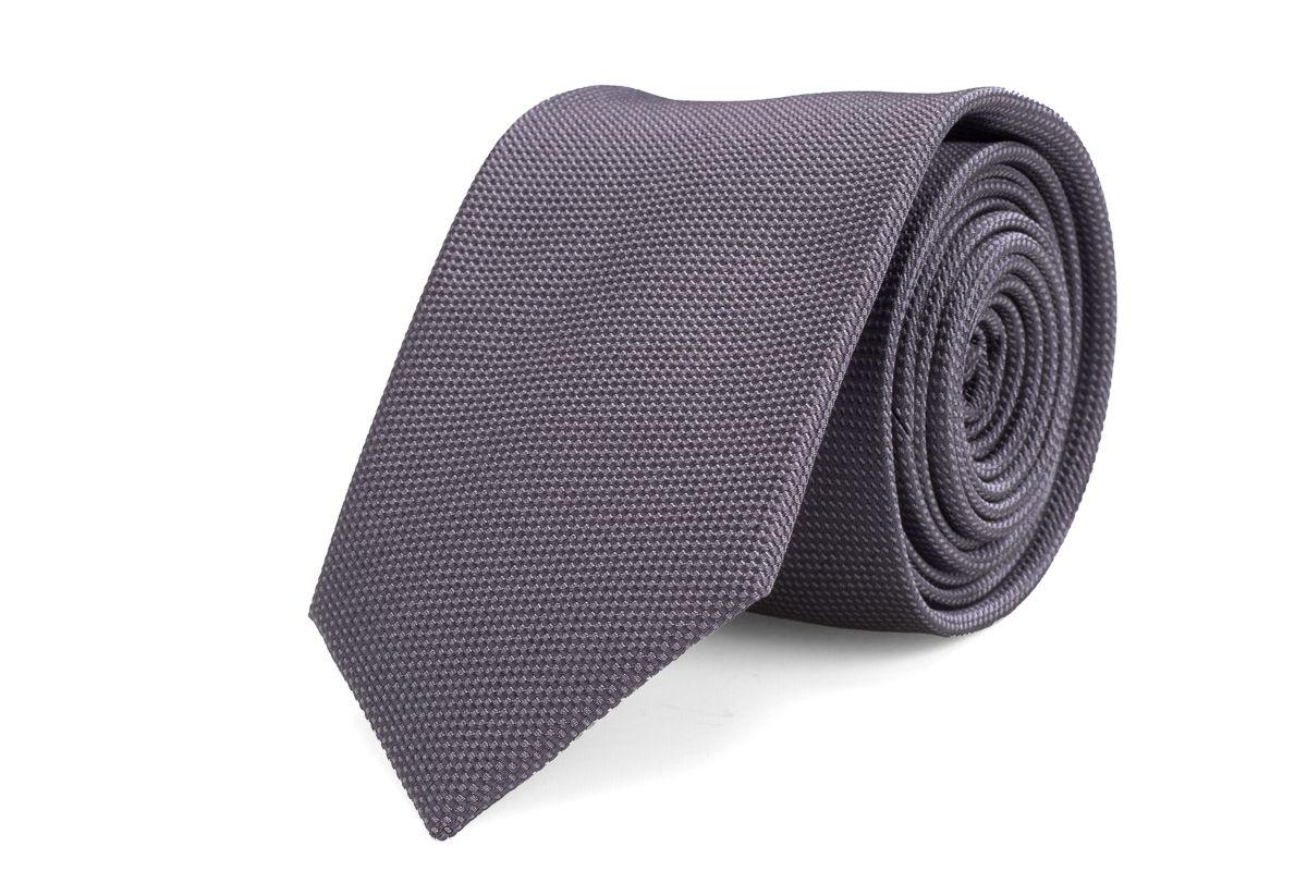 stropdas zijde nos 11 grijs