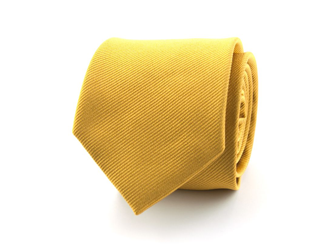 stropdas zijde nos 13 goudgeel