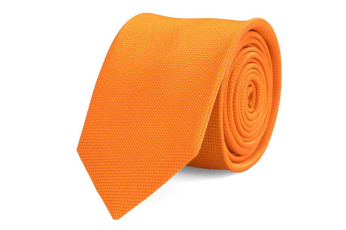 stropdas zijde nos 13 oranje