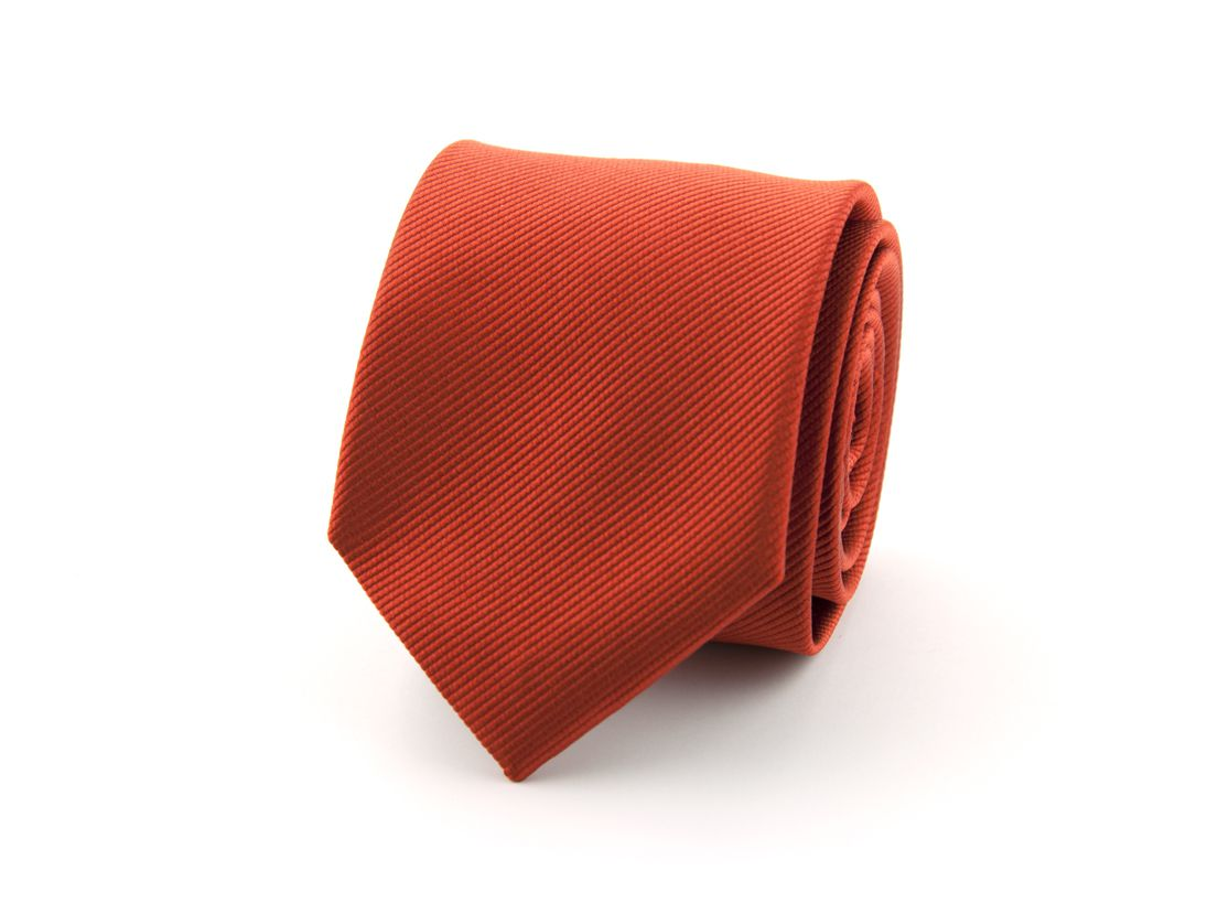 stropdas zijde 14 brique