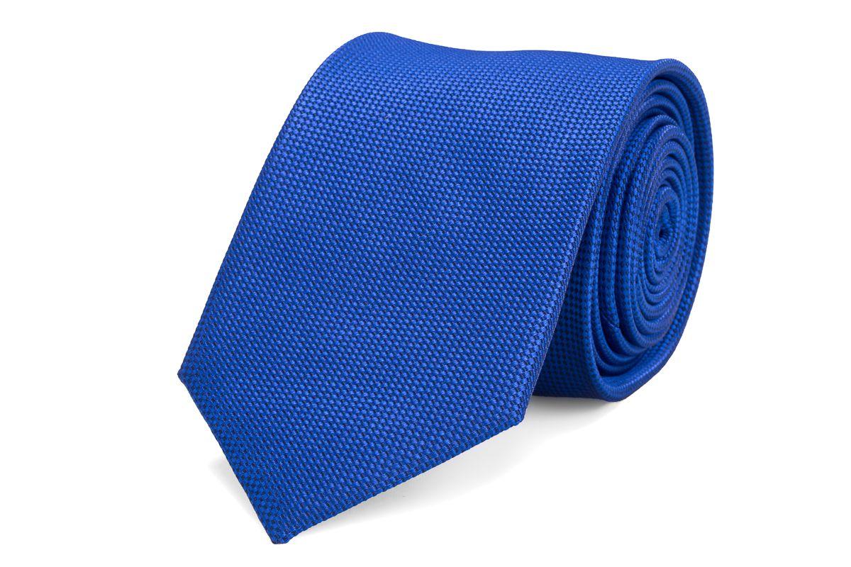 stropdas zijde nos 14 kobalt