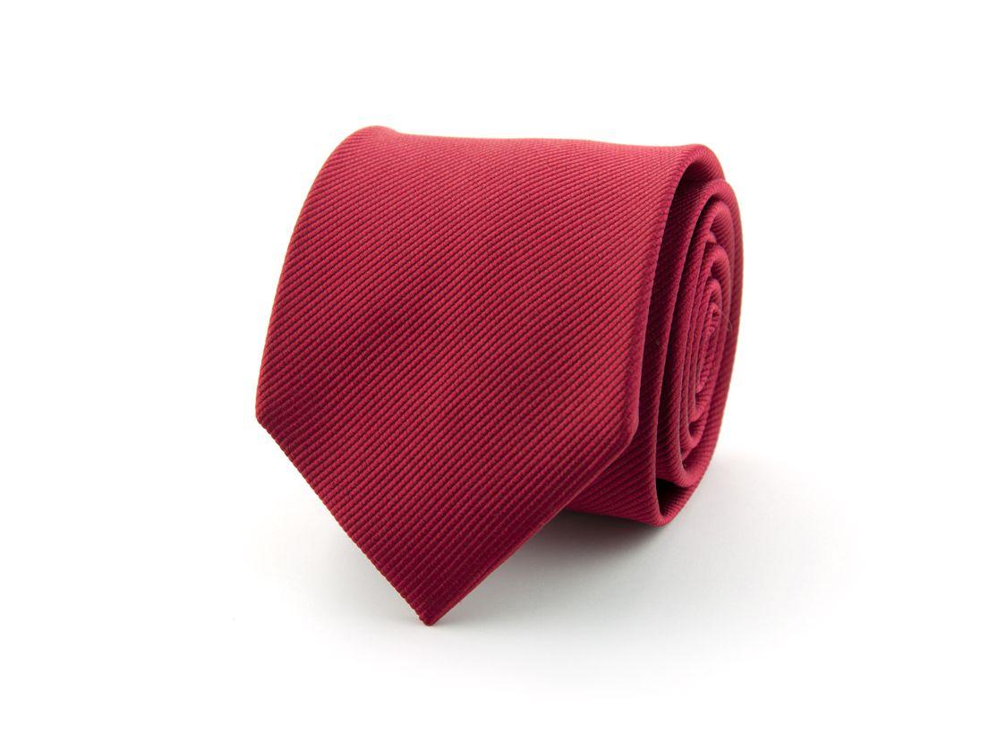 stropdas zijde nos 17 middenrood