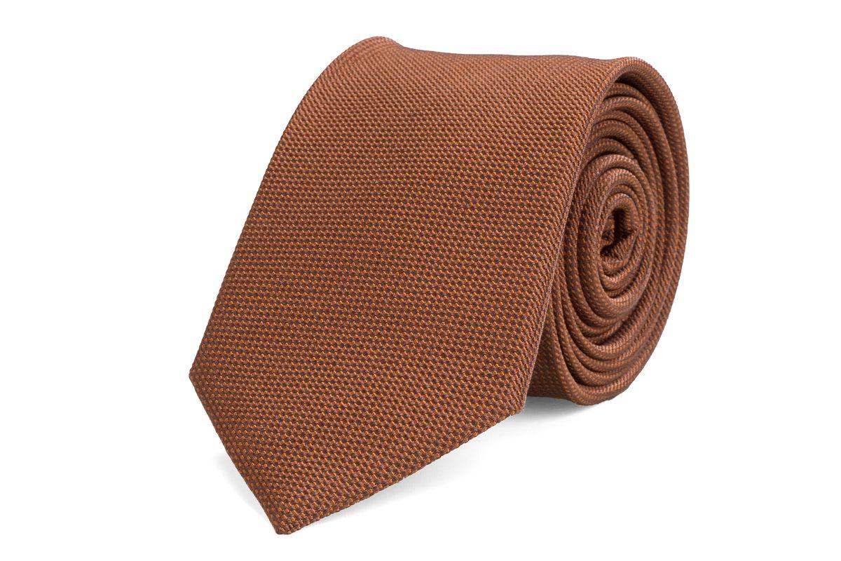 stropdas zijde nos 18 bruin