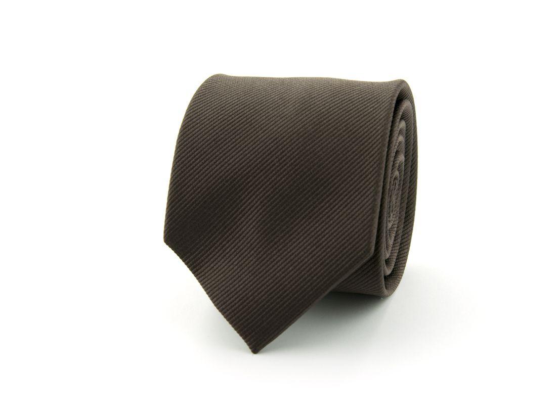 stropdas zijde nos 45 donkerbruin