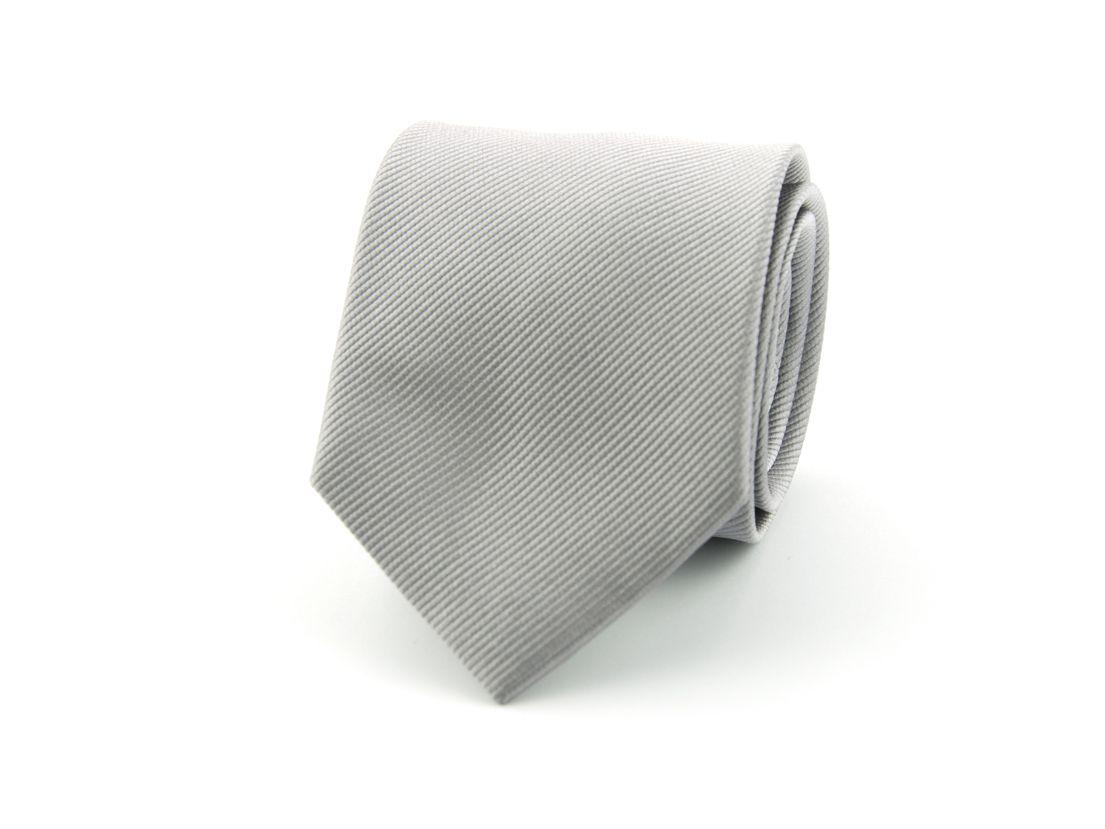 stropdas zijde nos 48 zilvergrijs