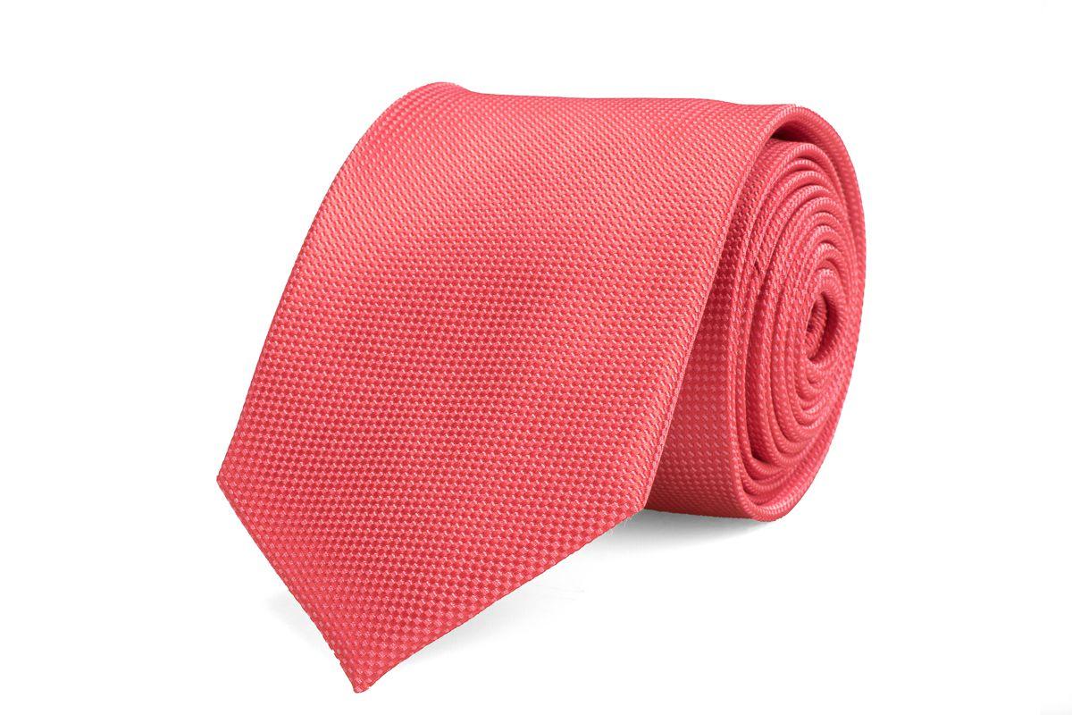 stropdas zijde nos 5 koraal