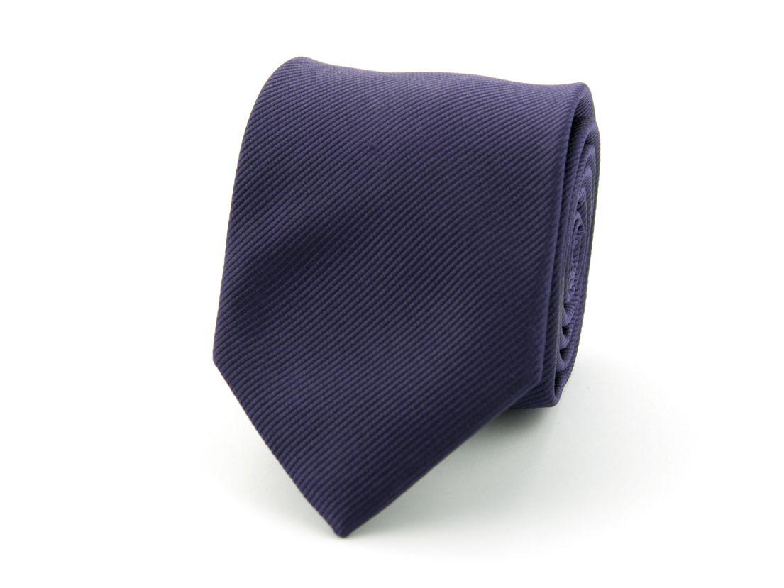 stropdas zijde 62 donkerpaars